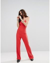 Honey Punch - Relaxed Cami Jumpsuit In Rib - Lyst