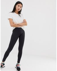 85849a7e8d7832 adidas Originals Colorado Mesh Paneled Leggings In Black And Pink in ...