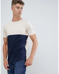Produkt - T-shirt With Colour Block Panel - Lyst