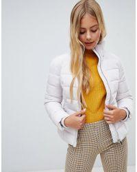 Miss Selfridge - Padded Jacket In Silver - Lyst