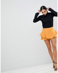 AX Paris - Ruffle Mini Skirt - Lyst