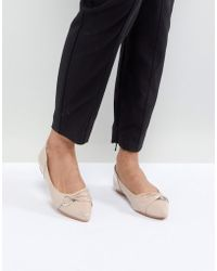 Lost Ink - Patent Flat Shoes - Lyst