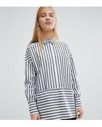 Monki - Two Way Striped Shirt - Lyst