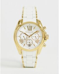 Michael Kors - Mk6578 Ladies White And Gold Chronograph Watch - Lyst