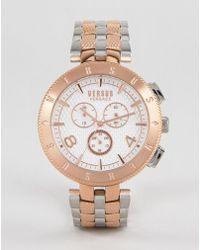 Versus - S7617 Logo Bracelet Watch In Mixed Metal - Lyst