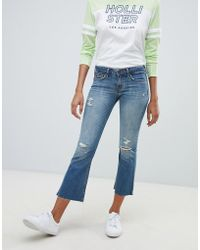 Hollister - Destroyed Kick Flare Jeans - Lyst