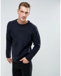Bellfield - Sweater With Rib Texture - Lyst