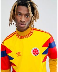 adidas Originals - Retro Colombia Football Jersey In Yellow Cd6956 - Lyst
