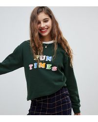 Adolescent Clothing - Oversized Sweatshirt With Fun Times Print - Lyst