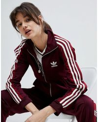 adidas Originals - Originals Adibreak Track Jacket In Maroon - Lyst