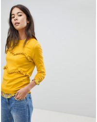Oasis - Layered Frill Sweater - Lyst