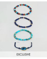 Reclaimed (vintage) - Inspired Charm Bracelet Pack Exclusive At Asos - Lyst