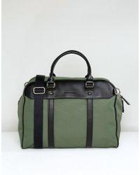 Smith & Canova - Nylon And Leather Holdall - Lyst