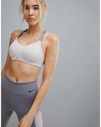 Nike - Medium Support Studio Bra In Rose - Lyst
