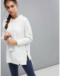 Varley - Manning Sweat In Ivory - Lyst
