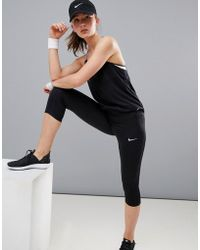 Nike - Dri-fit Power Essential Crop Tight - Lyst