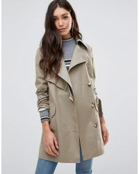 Cooper & Stollbrand - Asymmetric Trench Coat In Stone - Lyst