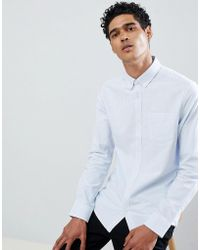 Only & Sons - Regular Fit Pinstripe Oxford Shirt - Lyst