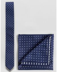 ASOS - Polka Dot Tie And Pocket Square Set - Lyst