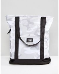 Vans - Made For This Tote In Grey Camo Print - Lyst