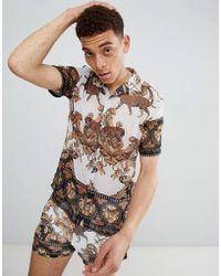 Jaded London - Baroque Chiffon Shirt - Lyst