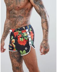 Hype - Runner Swim Shorts In Floral Print - Lyst