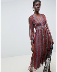 INTROPIA - Maxi Dress In Paisley Print - Lyst