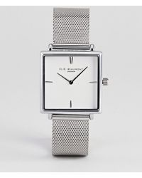 Elie Beaumont - Eb818.5 Watch With Silver Case And Mesh Strap - Lyst