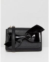 Dune - Black Bow Detail Chain Cross Body Bag - Lyst