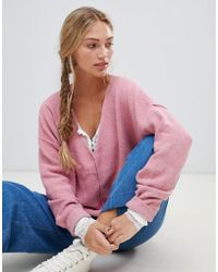 Free People - Take Me Places V-neck Jumper - Lyst