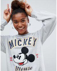 Bershka - Mickey Mouse Sweatshirt - Lyst