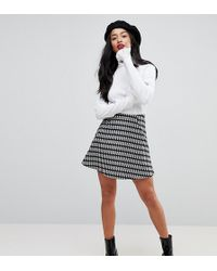 ASOS - Mini Flippy Skirt In Check - Lyst
