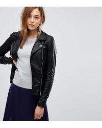 Y.A.S - Leather Biker Jacket - Lyst