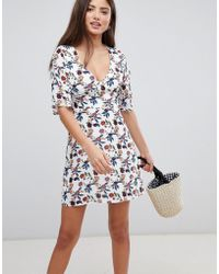 Fashion Union - Mini Dress With Frill Sleeves - Lyst