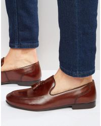 Red Tape - Tassel Loafers In Brown Leather - Lyst