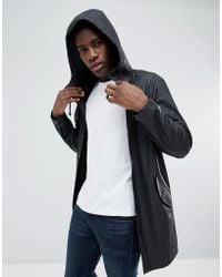 ASOS - Shower Resistant Rain Coat In Black - Lyst