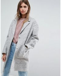 ASOS - Fabric Interest Cocoon Coat - Lyst