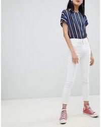 Pull&Bear - High Waist Skinny Jean In White - Lyst