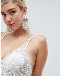 ASOS - Design Statement Stick Pearl Earrings - Lyst