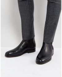H by Hudson - Tonti Leather Chelsea Boots In Black - Lyst