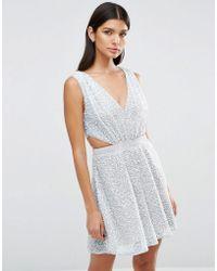 ASOS | Embellished Side Cut Out Mini Dress | Lyst