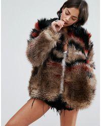 Free People - Scarlet Faux Fur Jacket - Lyst