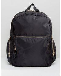 Monki - Nylon Utility Backpack - Lyst
