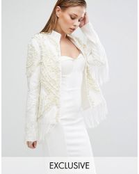 A Star Is Born - Embroidered Fringe Trophy Jacket - Lyst