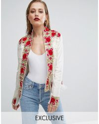 A Star Is Born | Rose Embroidered Trophy Jacket With Fringe | Lyst