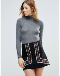 First & I - Polo Neck Jumper - Lyst