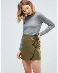 First & I - Tie Wait Mini Skirt - Lyst