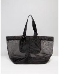 Warehouse - Mesh D Ring Tote Bag - Lyst