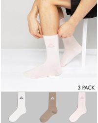 Le Coq Sportif - 3 Pack Logo Crew Socks 1711062 - Lyst