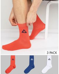 Le Coq Sportif - 3 Pack Crew Socks In Multi 1710513 - Lyst